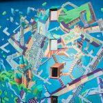 Pictura murală Fortificații, finalizată de Lucian Sandu Milea